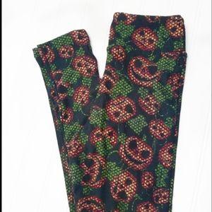 LuLaRoe Tween Pumpkin Leggings